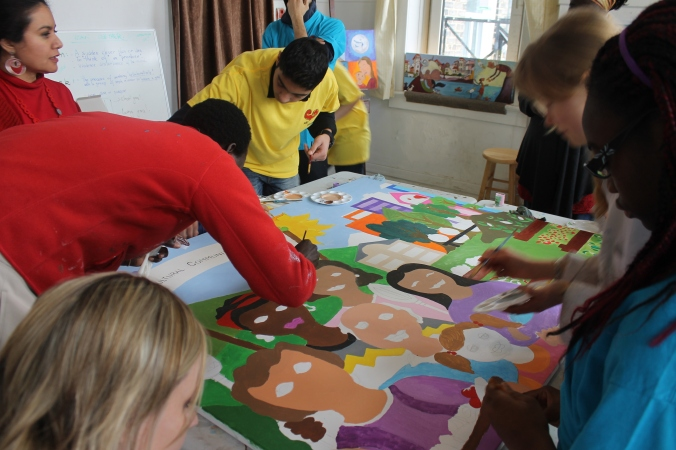 YCG mural painting youth session!